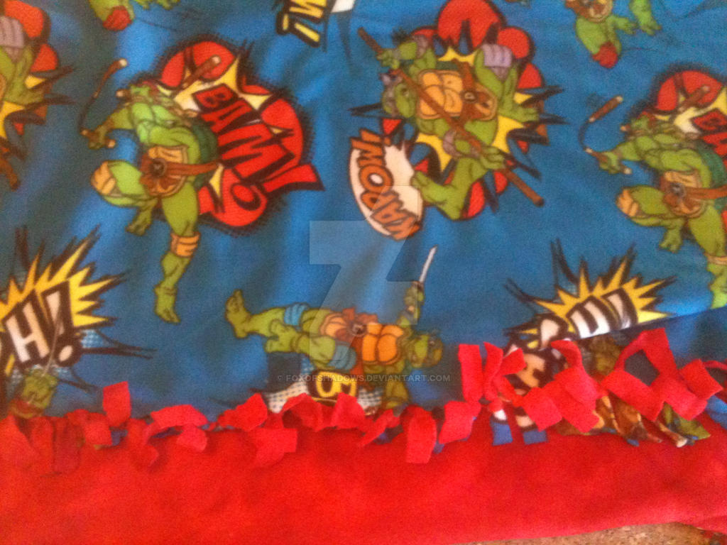 Teenage Mutant Ninja Turtles No Sew Fleece Blanket by FoxofShadows