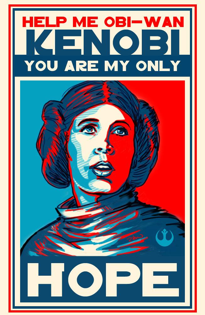 Leia HOPE kenobi version by USAmazing