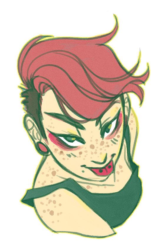 Pink hair girl by kmwoot