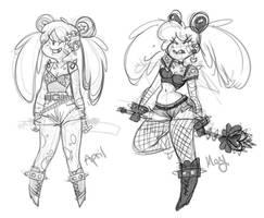Sailormoon punk comparison by kmwoot