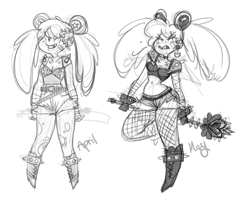 Sailormoon punk comparison by kmwoot