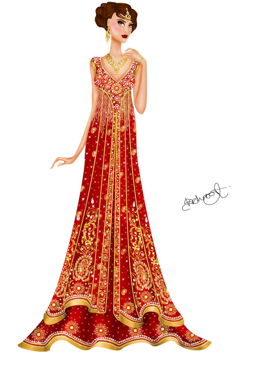 Asian Inspired Wedding Gown 2 By Shehnoor2412 On Deviantart