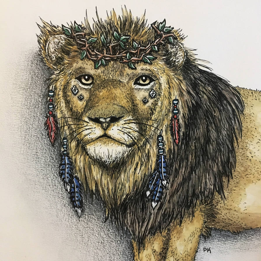 Lion of the Wilderness // watercolor