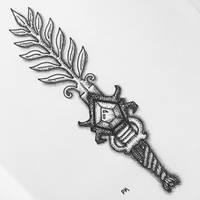 Fern Sword // pen drawing