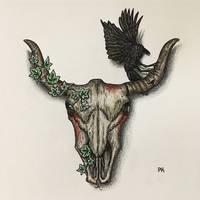 Bull skull // casual creepy design