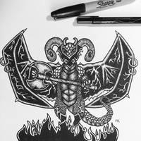 Hell's guard // pen design