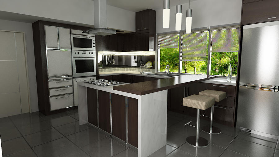 Wet And Dry Kitchen Design