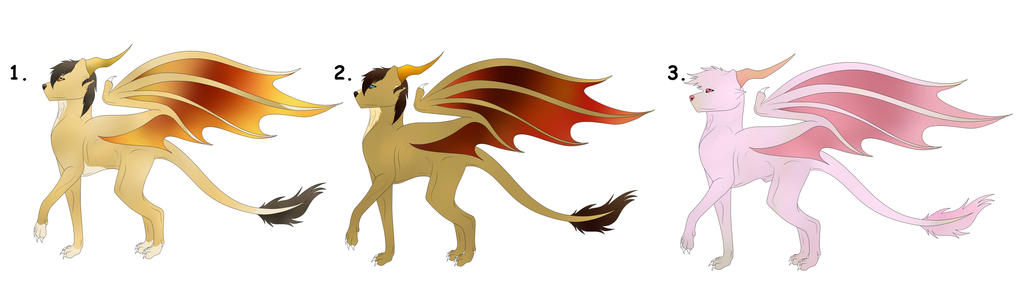 Golden Horned Dakotian FREE Adopts Batch 2(CLOSED) by Redwolfless