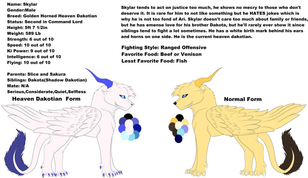 Lord Skylar Ref(updated) by Redwolfless