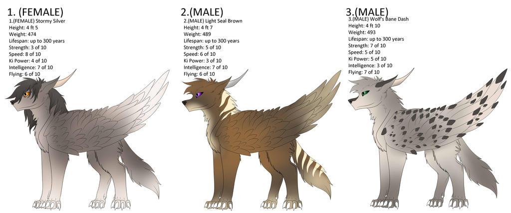 Wolf Dakotian Adopts 2 (CLOSED) by Redwolfless