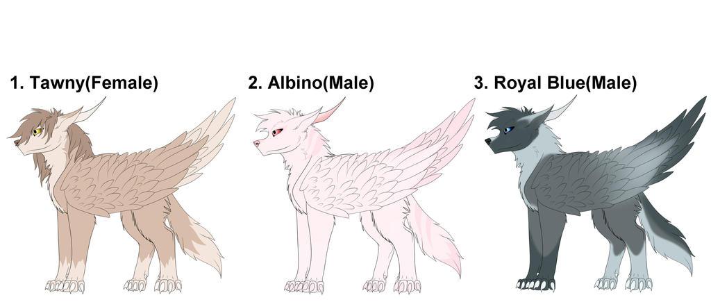 Wolf Dakotian Adopts 3 (CLOSED) by Redwolfless