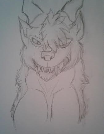 A Narcissistic Cannibal Called Khar (sketch) by Redwolfless
