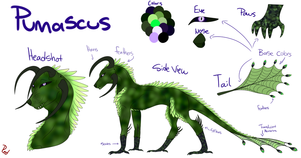 Species Gift - Draco ( Redo) by Redwolfless