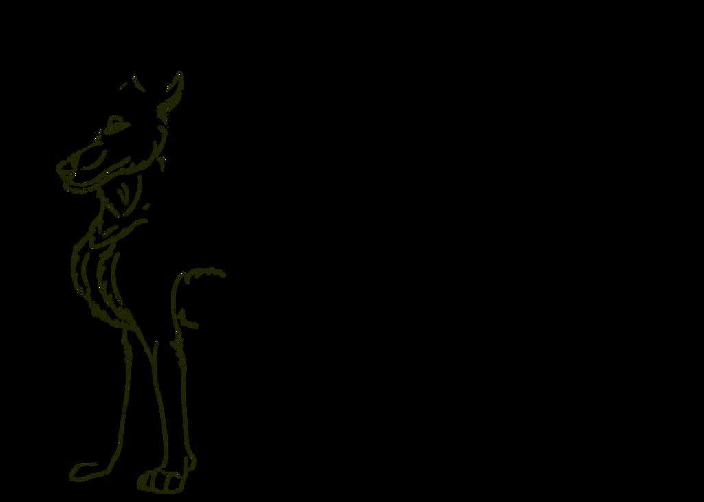 Golden Horned Dakotian Female Lineart by Redwolfless