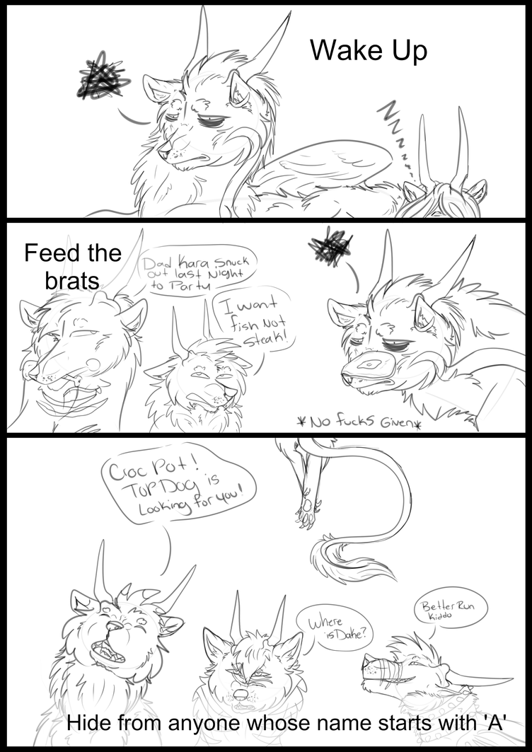 A Day In The Life Of Dakota Part 1  by Redwolfless