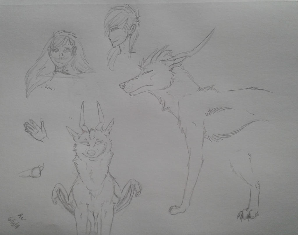 Yet Another Sketch Dump by Redwolfless
