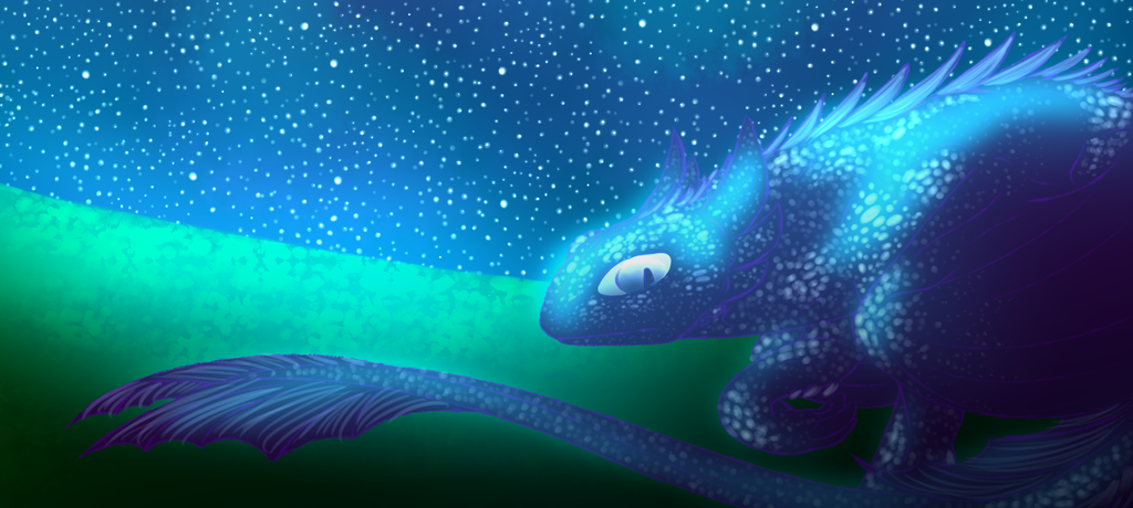 In The Night Sky Where We All Hide by Redwolfless