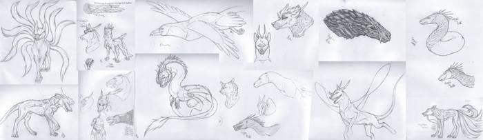 Sketch Dump 2-10-2019 by Redwolfless