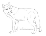Free lineart wolf