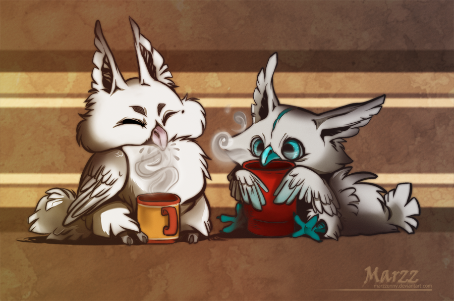 Coffee Owlies by Marzzunny