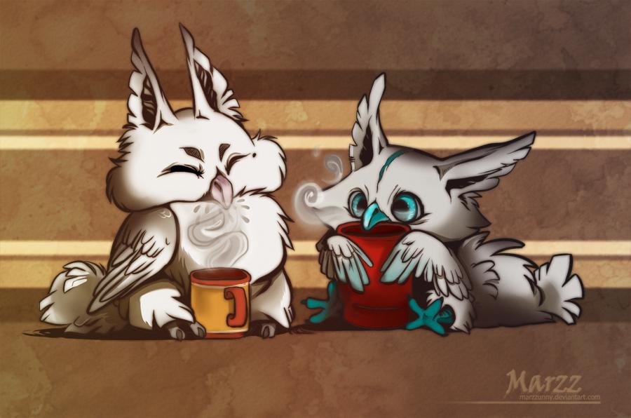 Coffee Owlies by Marzzunny