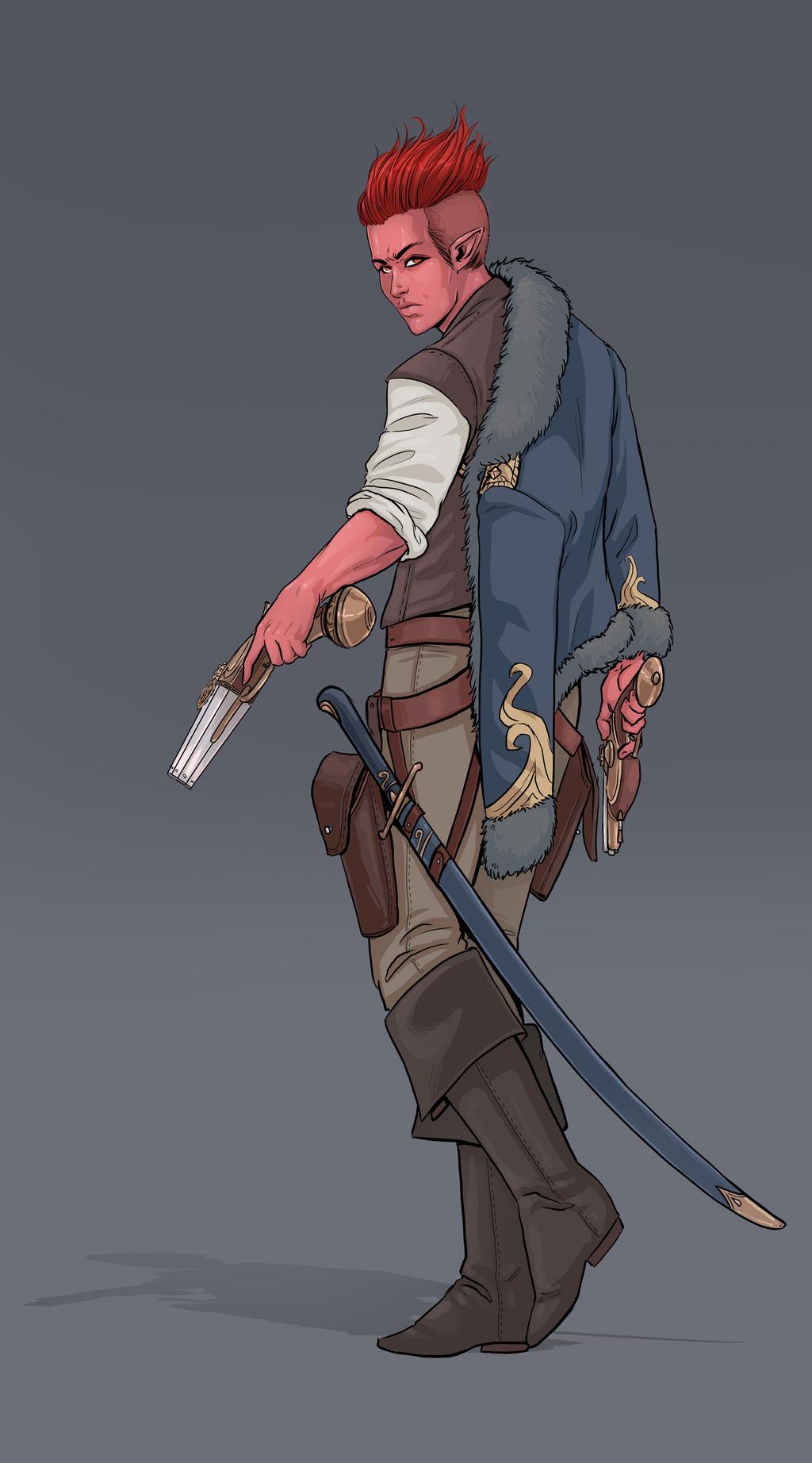 Cole Sivali, the Genasi Gunslinger