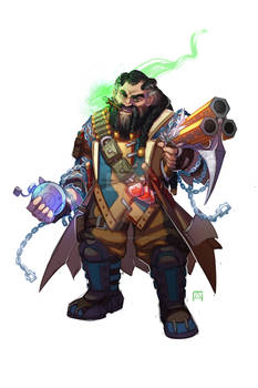Argus Ironbrand, the Dwarven Gunslinger