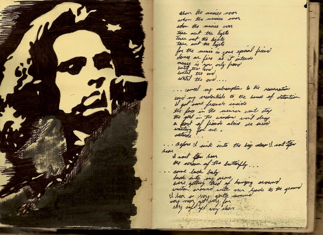 an analysis of the imagery on jim morrisons poetry in his songs References to william blake in poetry william blake's songs of innocence jim morrison based the name of his rock group.