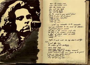 Jim Morrison Sketchbook Shrine by Mr-Hayami