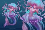 Mermaid Jellyfish Girl ~ Adopt auction#17 [CLOSED]