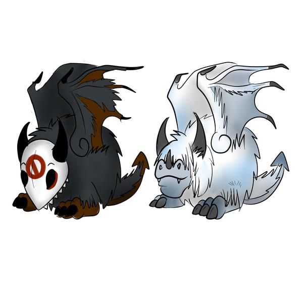 Fluffly Dragons by Myth-Dragon