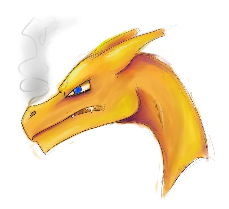 wild charizard is drawn by Myth-Dragon