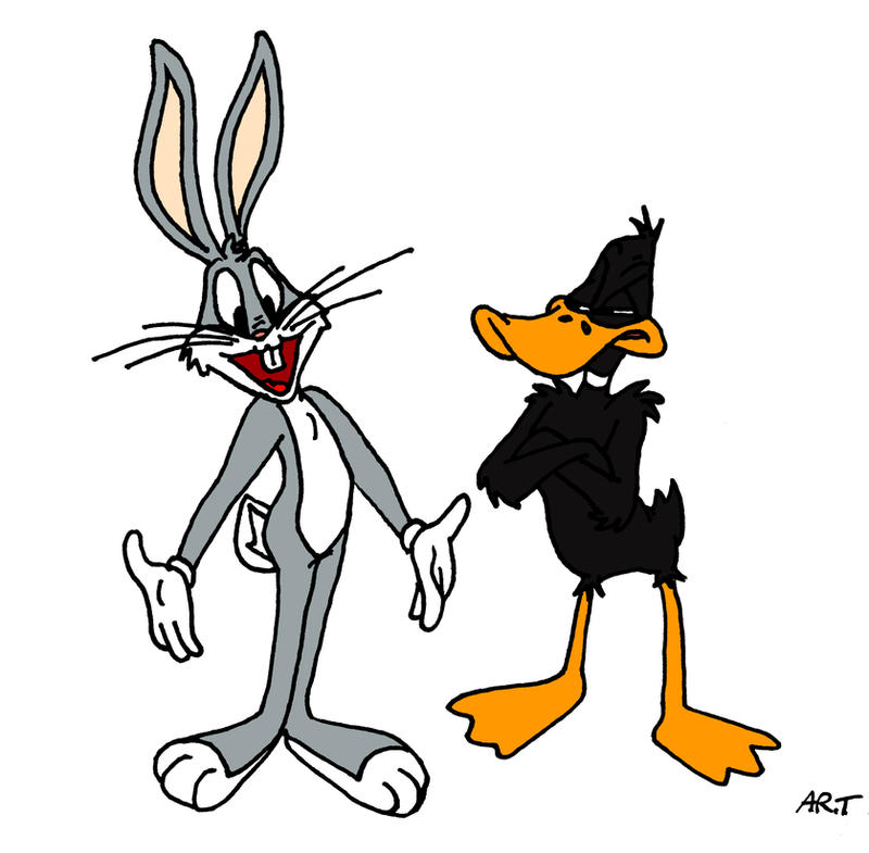 Bugs Bunny and Daffy Duck by ARTis2awsome