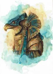 Horus Helmet by atlantisdesetoiles