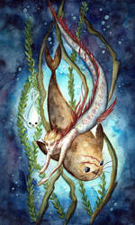 Junkfish and Selkie Mako by atlantisdesetoiles