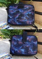 Galaxy pouch by atlantisdesetoiles