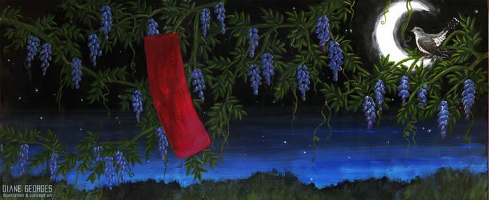 Hanafuda-Wisteria