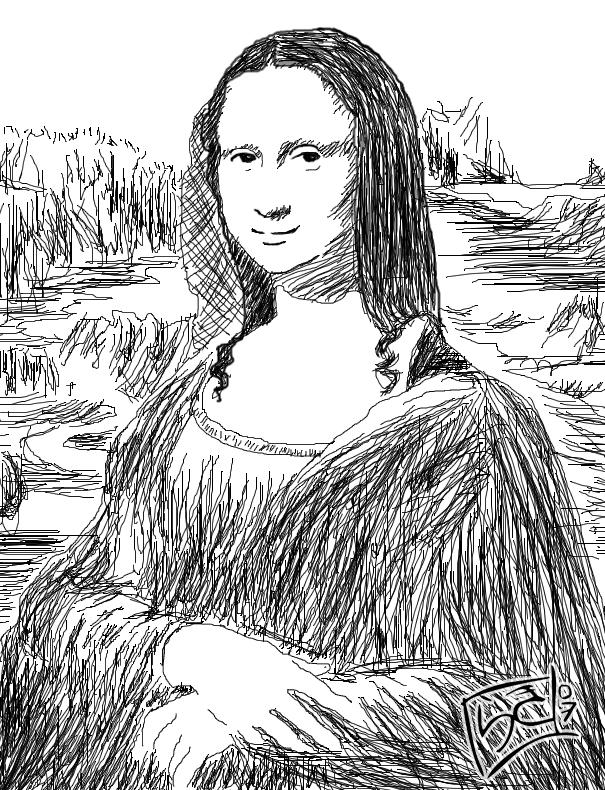 Mona lisa para dibujar - Imagui