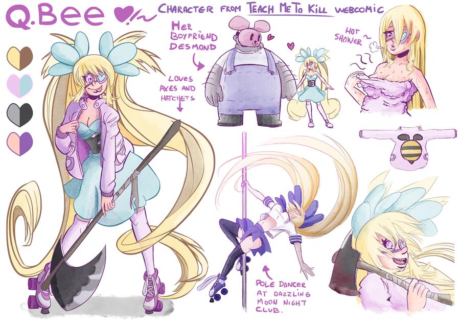 Q.Bee Character Sheet by Raki-Saeki