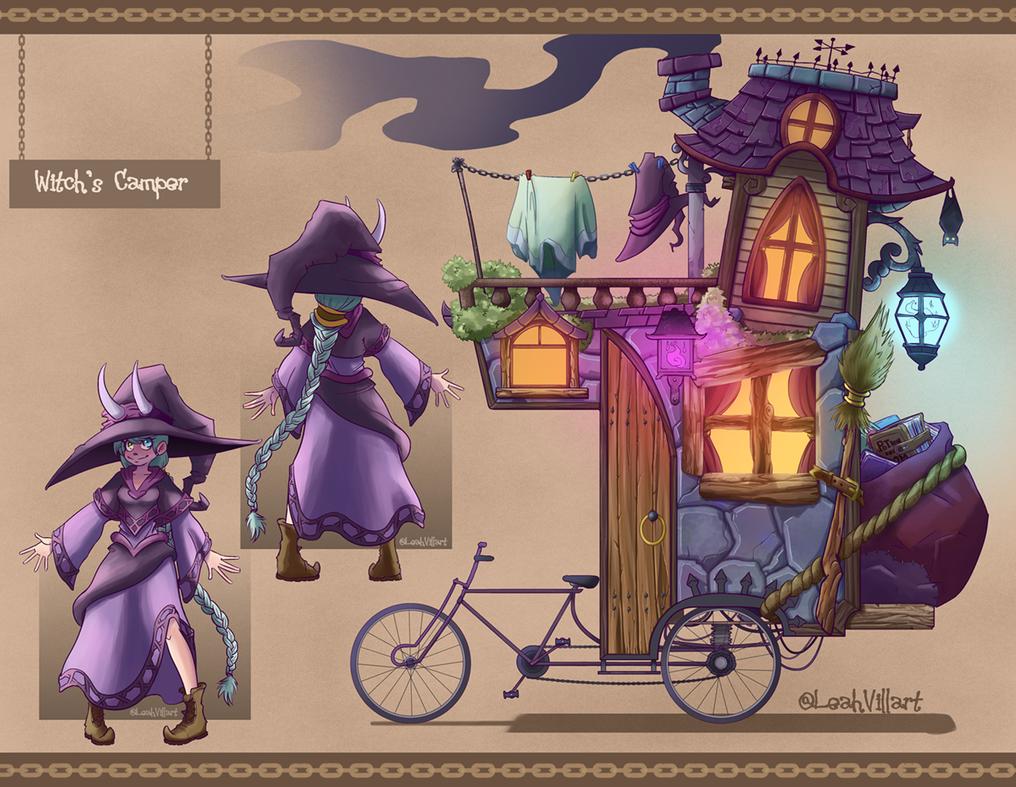 Witch and Bike Mansion Camper by Raki-Saeki