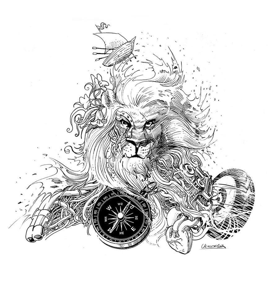 Lion Tattoo By Jovan-Ukropina On DeviantArt