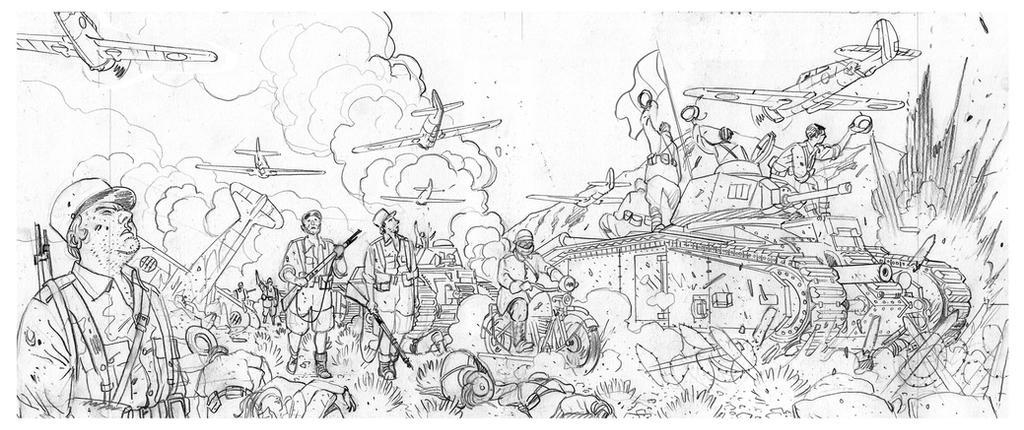 1940 Et si la France 2,  working detail 5 by Jovan-Ukropina
