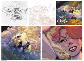 Filles de Soleil 22 working process and details by Jovan-Ukropina