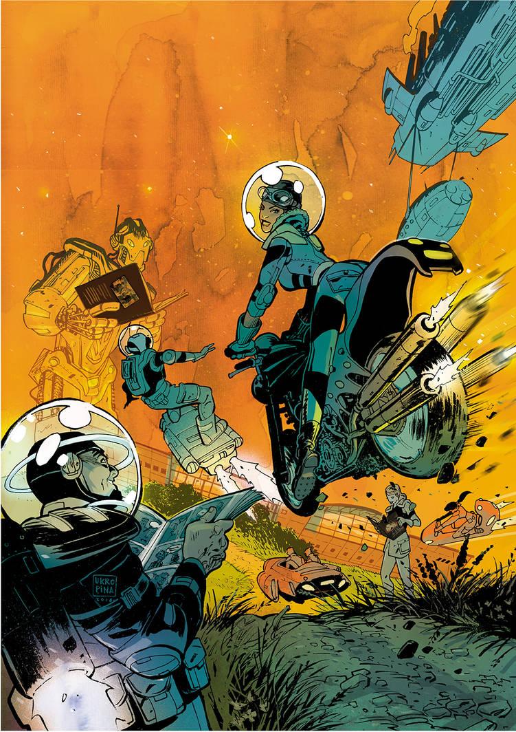 Comic book festival poster illustration