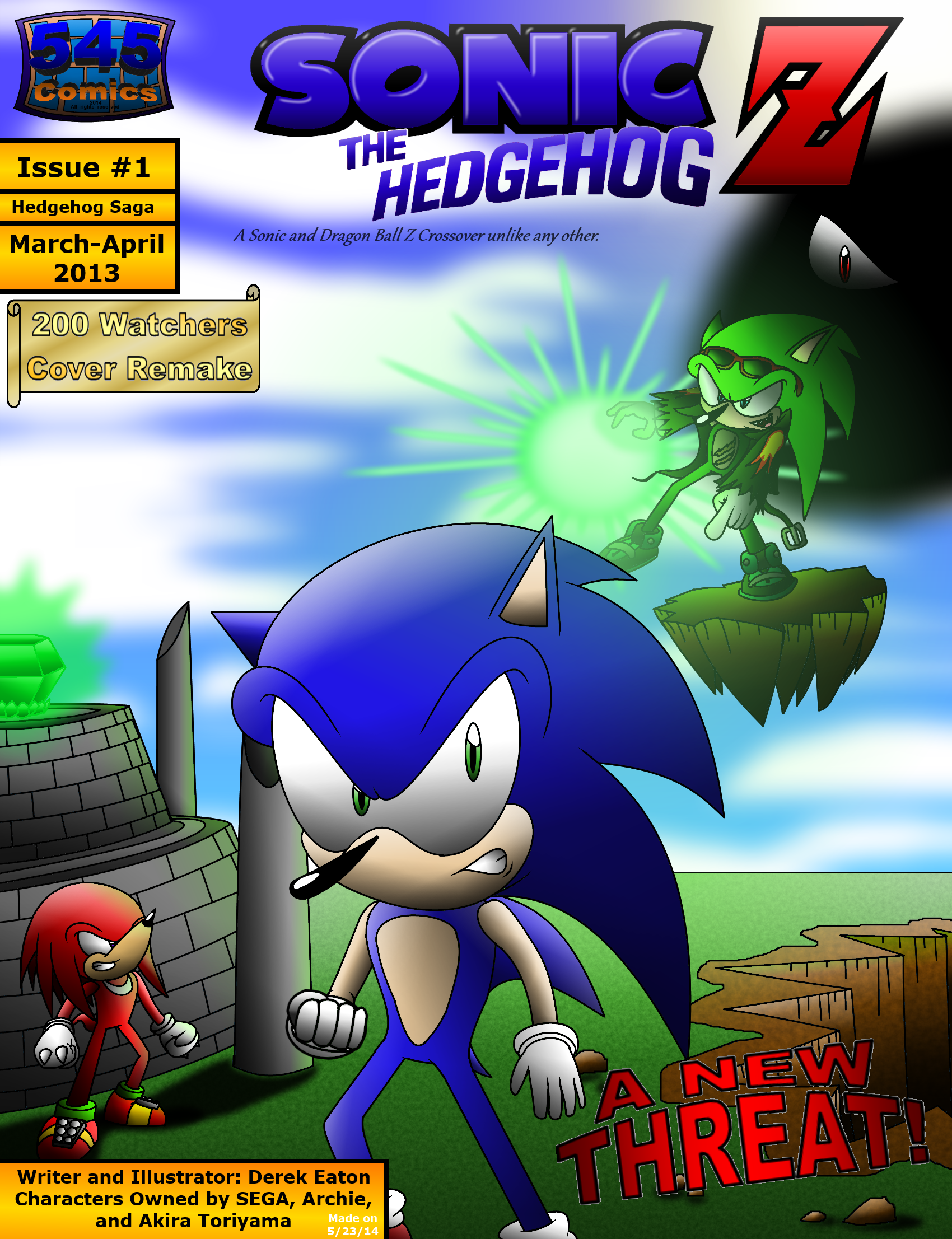 Sonic The Hedgehog Z 1 Cover Mar 2013 Remake By Cci545 On Deviantart