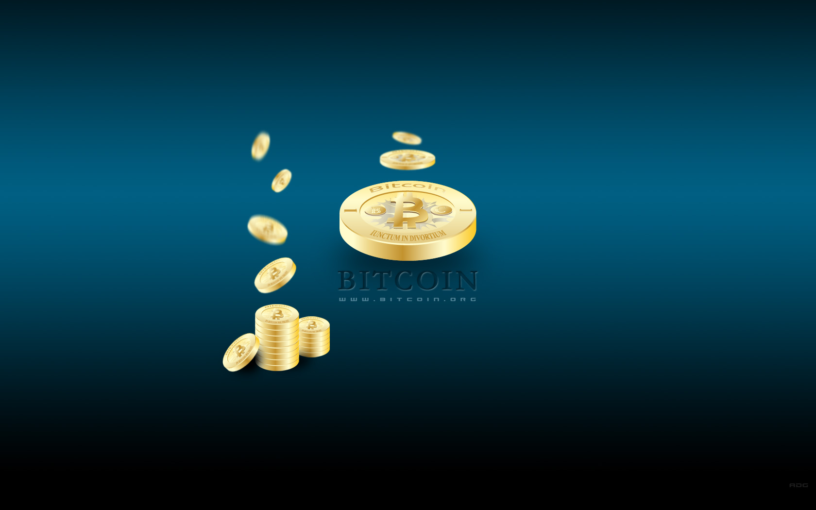 Bitcoin DskTp Wallpaper Blue 2
