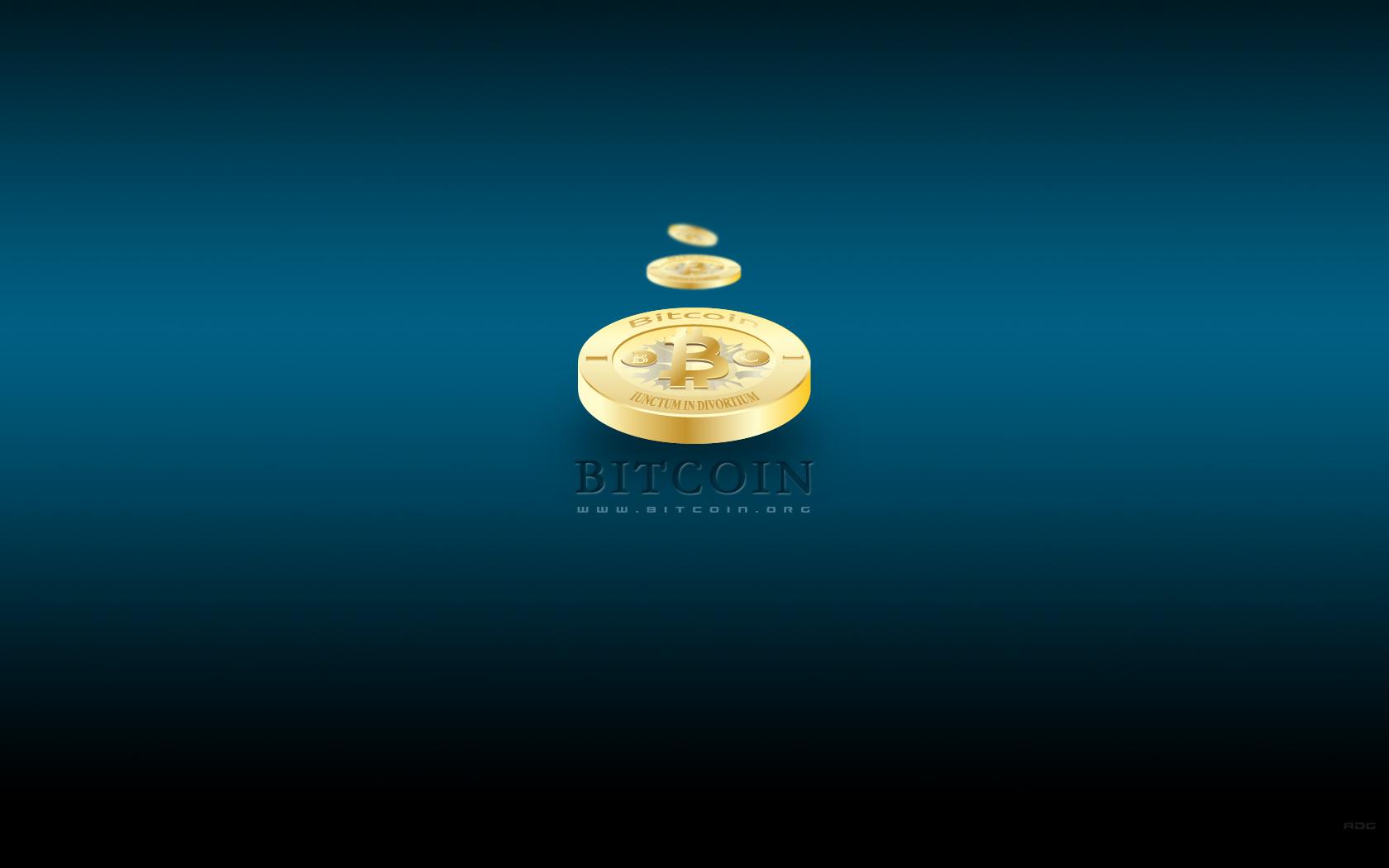 Bitcoin DskTp Wallpaper Blue 3