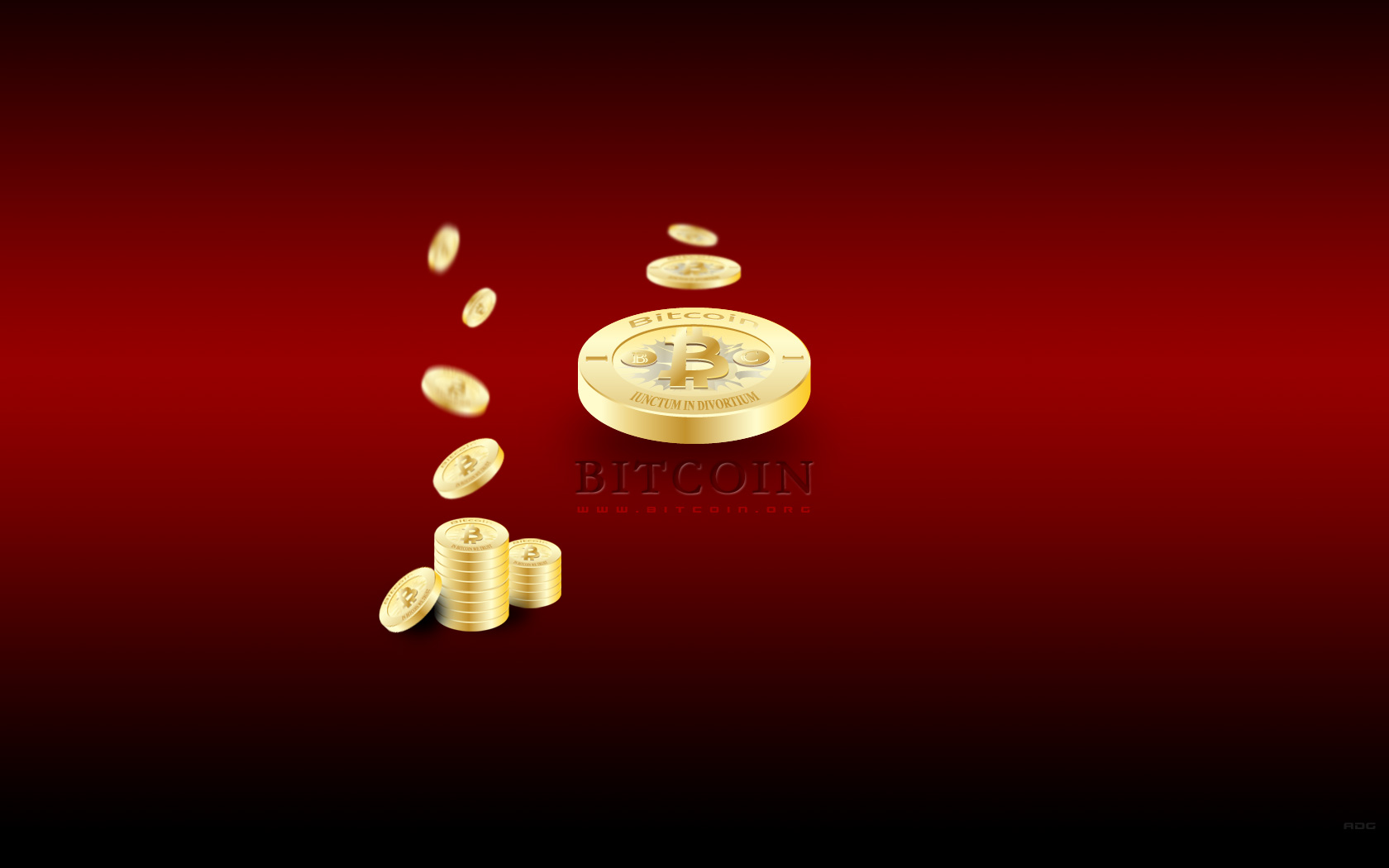 Bitcoin DskTp Wallpaper Red 2