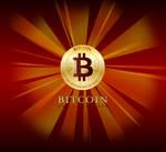 Bitcoin Logo Flat Coin Star