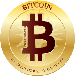 Bitcoin Flat Red by carbonism